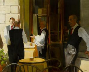 Florentine Waiters Oil , Philip Craig