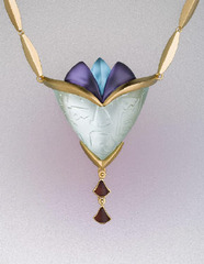 Egyptian Blossom - Floral Necklace , Linda MacNeil