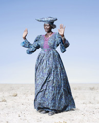 Herero Woman in Blue Dress, Jim Naughten