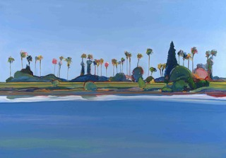 Sacramento River with 32 Palms, Gregory Kondos