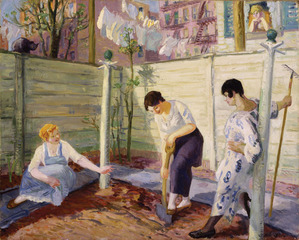Spring Planting, Greenwich Village,John Sloan