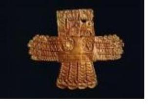 Winged Creature Plaque, Peru,
