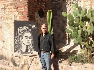 Frida in Sand, Manuel M. Peña