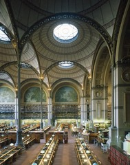 Bibliothèque nationale, Paris. View of the reading room, Henri Labrouste