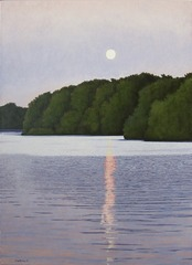 Moonlight on Lake, Wisconsin, E. Dale Erickson