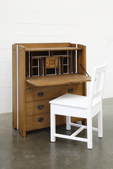 The first piece of furniture I bought (which was painted red when I found it)  ,Roy McMakin