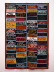 Meaning of Life Rug, Mungo Thomson
