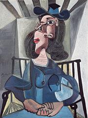Femme au chapeau assise dans un fauteuil, Pablo Picasso