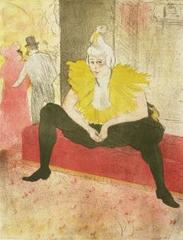 les: Clown (Seated Clowness, Mis CHA-U-KAO), Henri de Toulouse-Lautrec