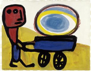 Mannetje met de zon, Karel Appel