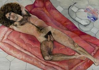 Paul Rosano Reclining, Sylvia Sleigh