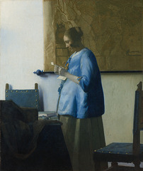 Woman in Blue Reading a Letter,Johannes Vermeer