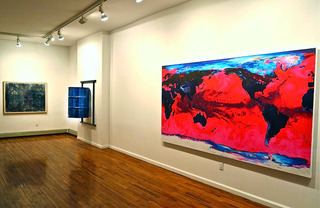 Installation view,Andrew Lyght (l) Arlington Weithers (r)