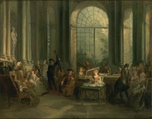 Le Salon Crozat  , Nicolas Lancret