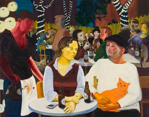 Beer Garden with Ulrike and Celeste, Nicole Eisenman