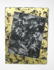 Untitled (gold crease black large/black mesh), Roman Liska
