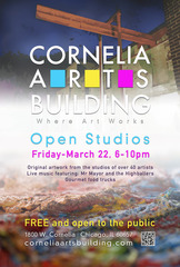 Cornelia Arts Building March Open House 2013,