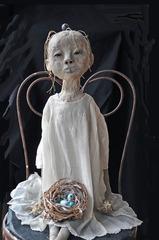 Girl with Bird\'s Nest, Elizabeth Featherstone Hoff