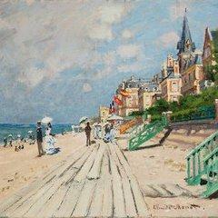 The Beach at Trouville, Claude Monet