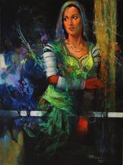 (4) Girl in Green , Mohammad Ali Bhatti