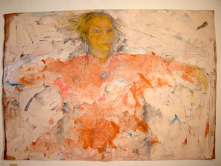 Self-portrait-drawing, a future life story, as told by grandparents, Suzanne Jackson