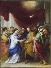 The Marriage of the Virgin, Bartolome Esteban Murillo