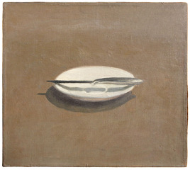 Untitled (Knife and Dish), Vija Celmins