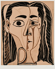 Jacqueline Au Bandeau De Face,Pablo Picasso