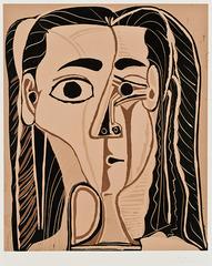 Jacqueline Au Bandeau De Face, Pablo Picasso