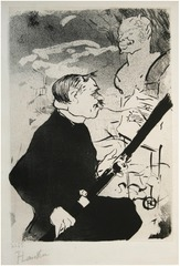 Pour Toi!... (For You!) (Désiré Dihau with his Bassoon), Henri de Toulouse-Lautrec