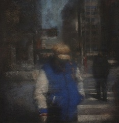Femme au teddy bleu, Yves Crenn