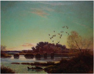 Ducks in Flight, Big Sandy,