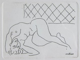Nu couch, renvers,Henri Matisse