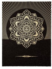 Obey Lotus Diamond (Black & Gold),Shepard Fairey