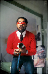 Self Portrait with Red Sweater,Barkley L. Hendricks