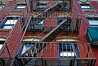 NYC Fire Escape, Philip Press