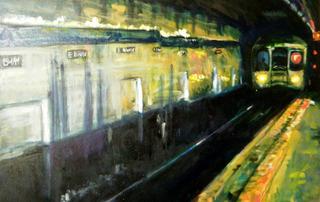 F TRAIN ARRIVAL, Vladimir Ginzburg