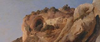 The Capuchin Convent at Amalfi (detail), Carl Blechen