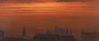 Hudson, New York at Sunset (detail), Frederic Edwin Church