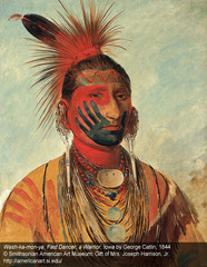 Wash-ka-mon-ya, Fast Dancer, a Warrior, Iowa , George Catlin