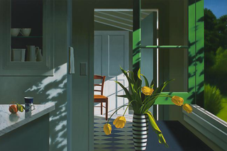 Interior, Yellow Tulips and Coffee Cup,Bruce Cohen