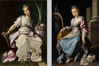 Left: Saint Catherine of Alexandria, Right: Saint Cecilia, Bernardo Strozzi