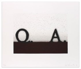 Question and Answer, Ed Ruscha