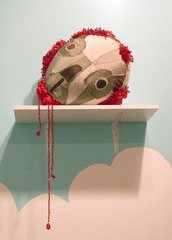 Skull with Blood Diamonds ,Saya Woolfalk