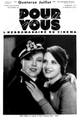 Anny Ondra and Kissa Kouprine on the cover of Pour Vous,