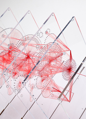 Knots, Red Thread Sculpture ,