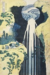 Amida Falls on the Kiso Highway, Katsushika Hokusai