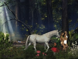 Petra Cortright, Enchanted Foreststrippersnopoleeasy2girls[1], 2012.,