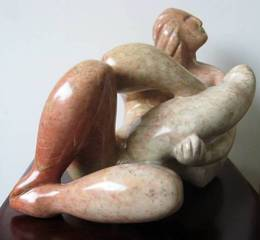 Reclining Mother and Child, Gordon Adams