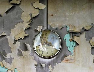 Melted Clock, Cass Technical School,